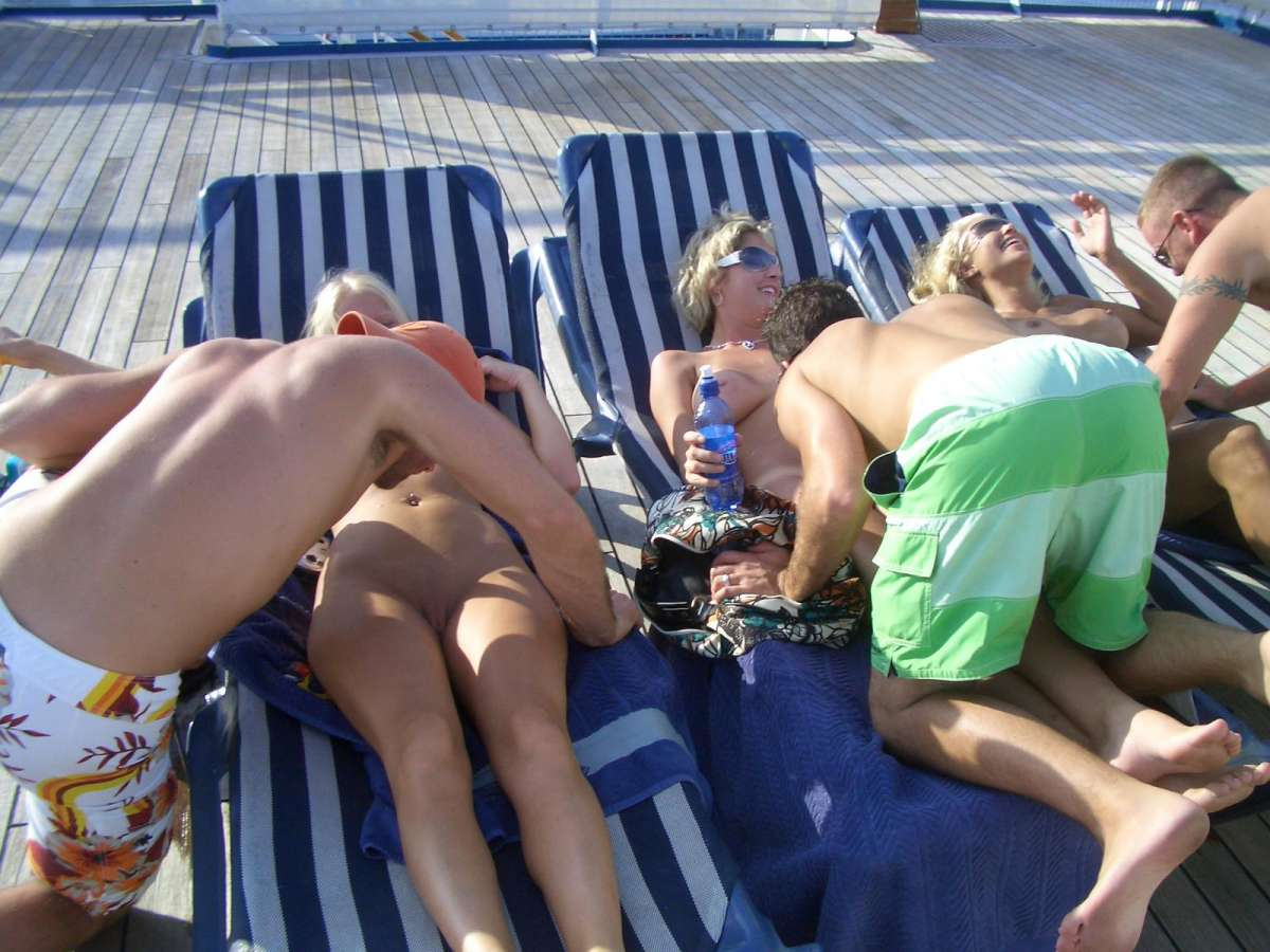 Hot Caribbean Cruise With A Few Topless Euro Party Girls www.GutterUncensored.com 015